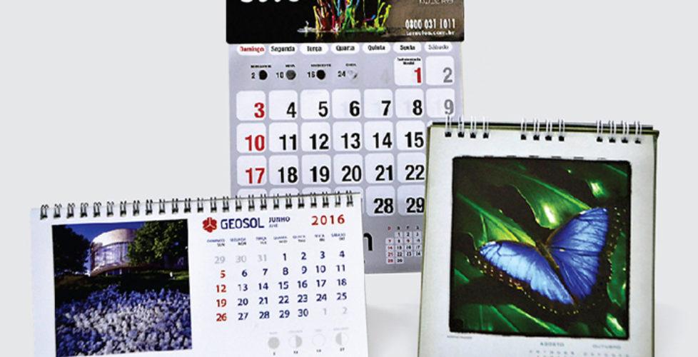Calendarios de parede e mesa
